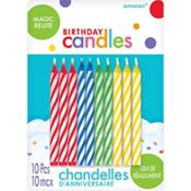 Magic Re-Lite Birthday Candles 10ct