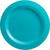 Caribbean Blue Premium Plastic Dinner Plates 16ct