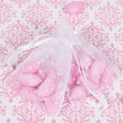 White Polka Dot Organza Wedding Favor Bags 24ct