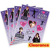 Justin Bieber Stickers 4 Sheets