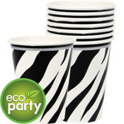 Zebra Print Cups 18ct