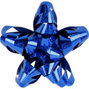 Prismatic Royal Blue Star Gift Bow