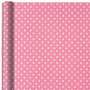 Jumbo Pink Polka Dot Gift Wrap