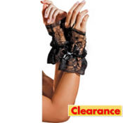 Black Lace Fingerless Gloves Deluxe