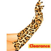 Long Leopard Print Gloves