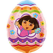 Foil Egg Hunt Adventure Dora Balloon 27in