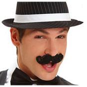 Black Mini Handlebar Moustache