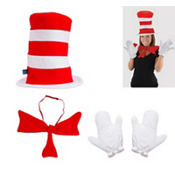 Adult Cat in the Hat Costume Kit - Dr. Seuss