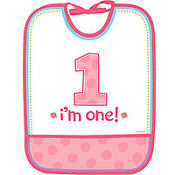 Vinyl Girl 1st Birthday Bib