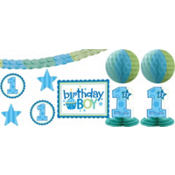 Boy 1st Birthday Decorating Kit