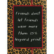 Leopard Print Purse Notepad