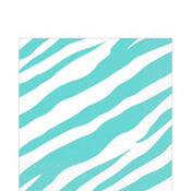 Robins Egg Blue Zebra Print Lunch Napkins 36ct