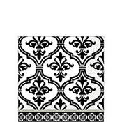 Damask & Polka Dot Beverage Napkins 36ct