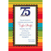 A Year to Celebrate 75 Custom Invitation
