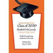 Orange Congrats Grad Custom Graduation Announcement