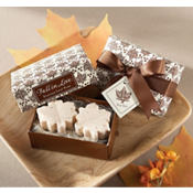 Fall In Love Leaf-Shaped Soap Wedding Favor