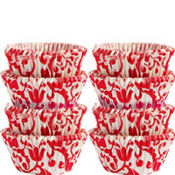 Red and White Elegant Mini Candy Cups 1in 200ct