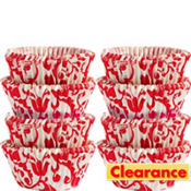 Red & White Mini Baking Cups 200ct