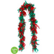 Light-Up Christmas Feather Boa 72in