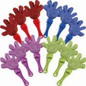 Colorful Glitter Hand Clappers 12ct
