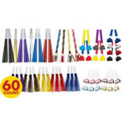 Assorted Color Noise Makers 60ct