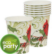 Holiday Tidings Eco-Friendly Cups 8ct