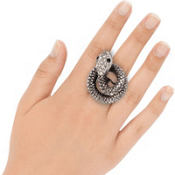 Silver Coiled Snake Ring