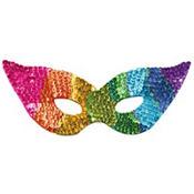 Sequin Rainbow Eye Mask