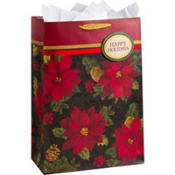 Giant Embellished Holiday Enchantment Gift Bag 23 3/4in