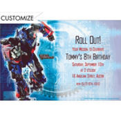 Transformers Custom Birthday Invitation