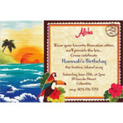Hawaiian Custom Invitation
