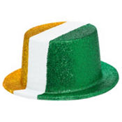 Glitter Irish Flag Top Hat