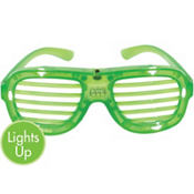 Light-Up Green Slotted Glasses