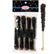 Black Rock Candy Sticks 8pc