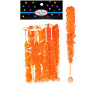 Orange Rock Candy Sticks 8ct