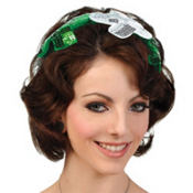 Green & Silver Sequin Shamrock Headband