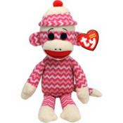 Socks the Sock Monkey Beanie Baby 6in