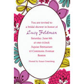 Floral Chic Custom Invitation
