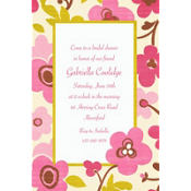 Linen Floral Custom Invitation