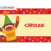 Monkey Party Custom Thank You Note