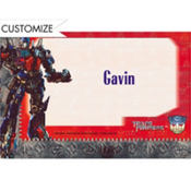 Transformers 3 Custom Thank You Note