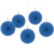Royal Blue Hanging Fans 6in 5ct