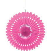 Pink Paper Fan Decoration 16in
