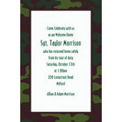 Camouflage Welcome Home Custom Invitation
