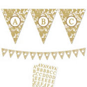 Gold Personalize It Pennant Banner Kit 28pc