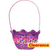 Purple Egg Shaped Easter Basket