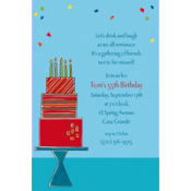 Fetching Birthday Cake Custom Invitation