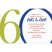 Great Big 60th Custom Invitation