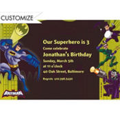 Batman Custom Invitation