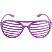 Purple Slotted Shades